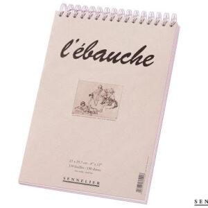 Bocetero Ébauche 21 x 29.7 cms., con espiral y micoperforado, 130 páginas sin ácido, Sennelier